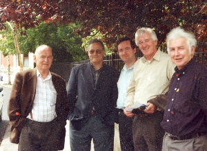 Pictured After The Society AGM In 2002: Marcus Bourke [Editor, Tipperary Historical Journal]; Dr. Denis Marnane [Secretary]; Kevin Griffin [Editor, Tipperary Historical Journal 2002]; Dr. William Nolan [Chairman]; Donnchadh Ó Duibhir [Eagarthóir Gaeilge]