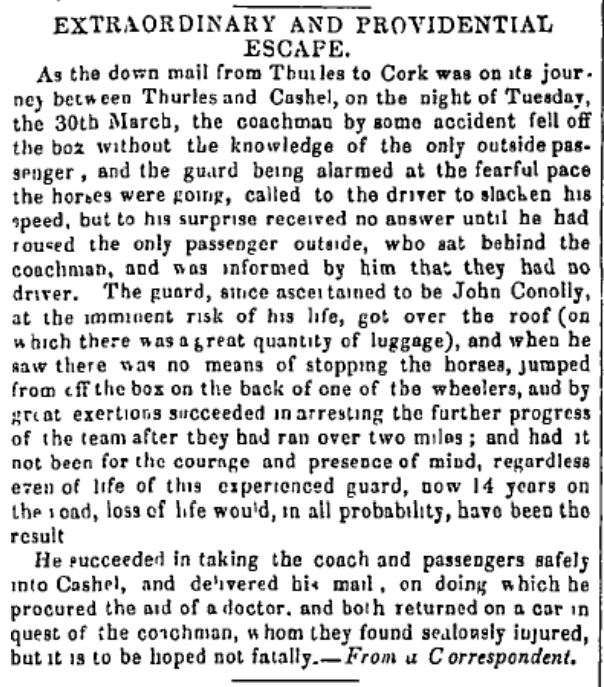 Freemans Journal 2 April 1847