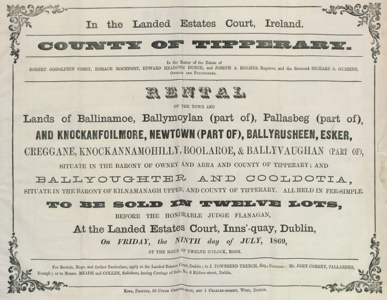 Cosby And Others Rental 1869