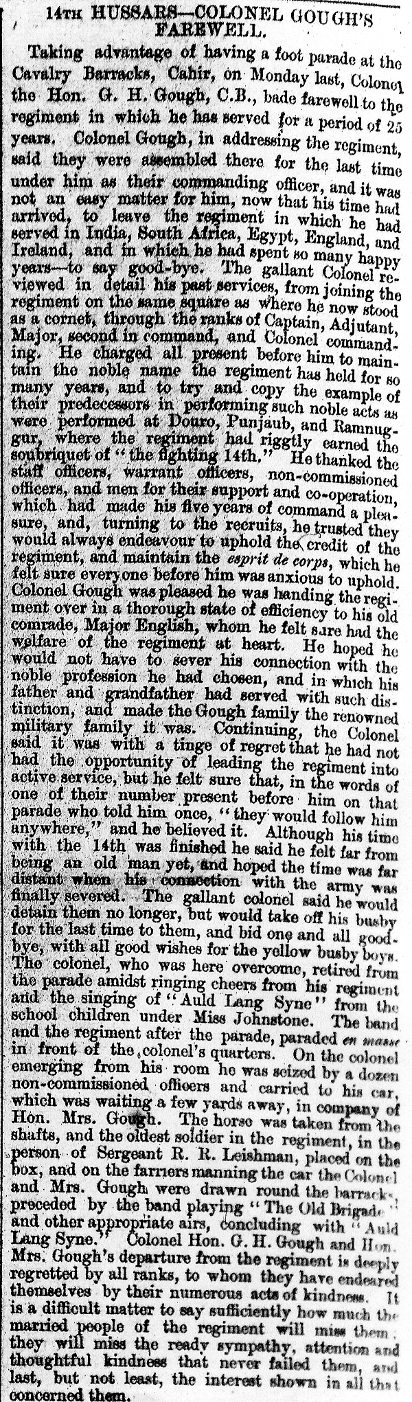 Clonmel Chronicle 27-6-1896 Gough