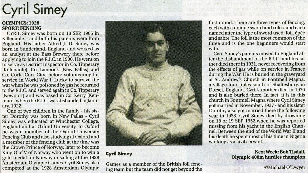 Cyril Simey Star