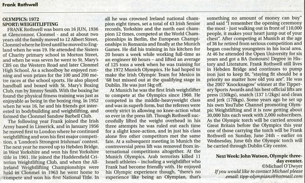 Frank Rothwell Article