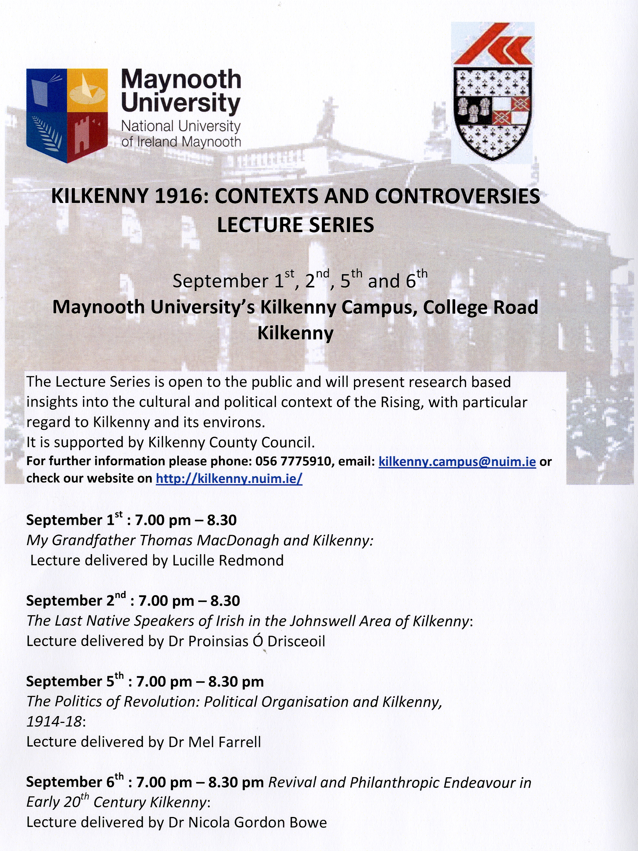 Kilkenny Lectures