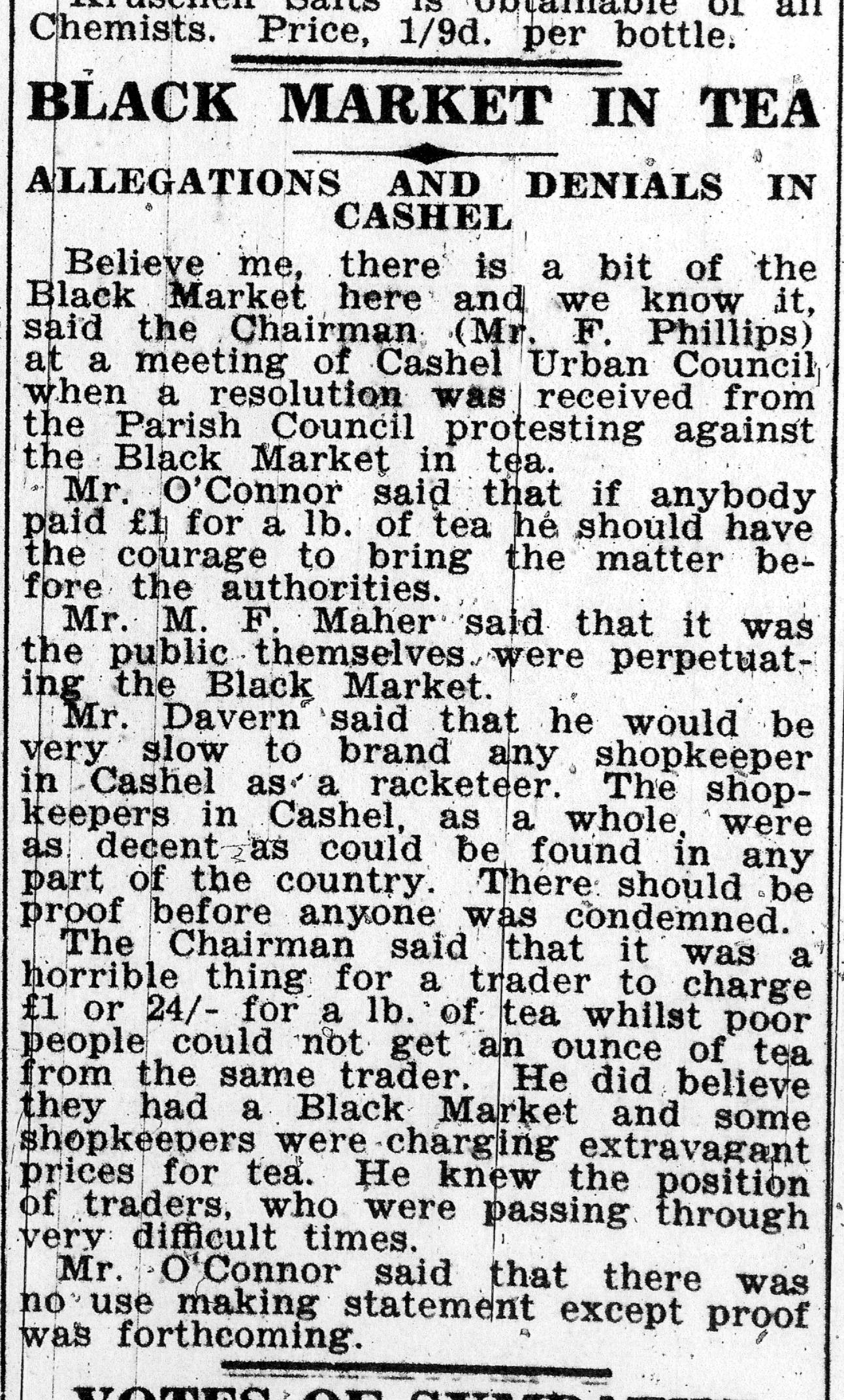 Tipperary Star 8-8-1942