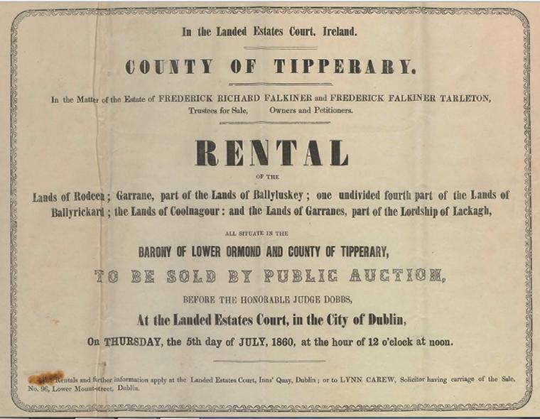 Falkiner Estate Rental Lower Ormond 1860