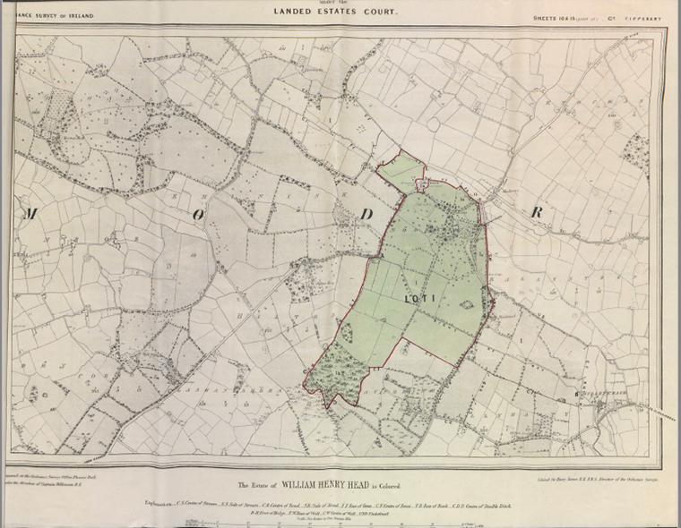 Head Estate Sale At Modreeny Etc 1869 Map