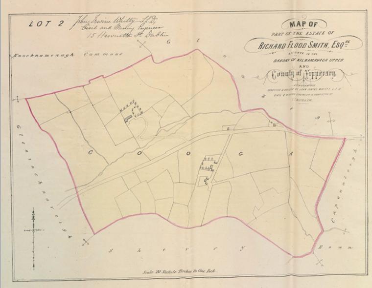 Richard Flood Smith Estate Sale 1857 Map