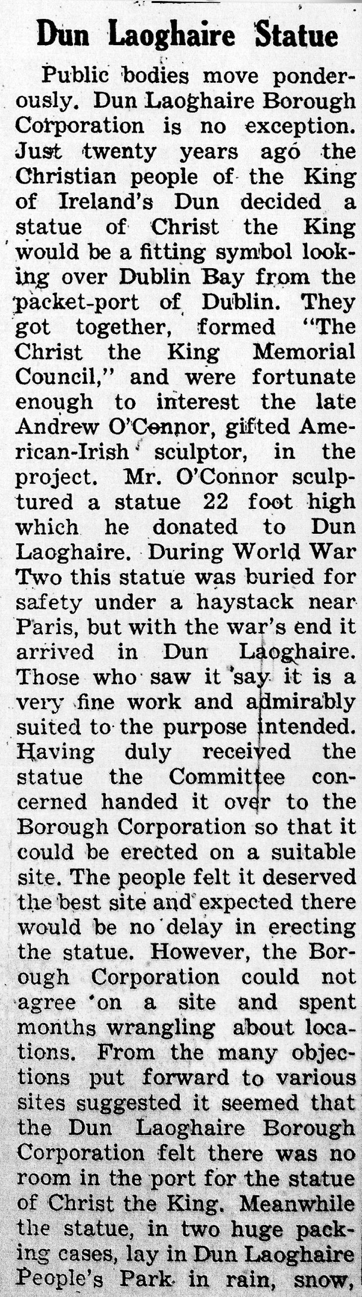 Nenagh Guardian 27 Jan 1951 Dun Laoghaire A