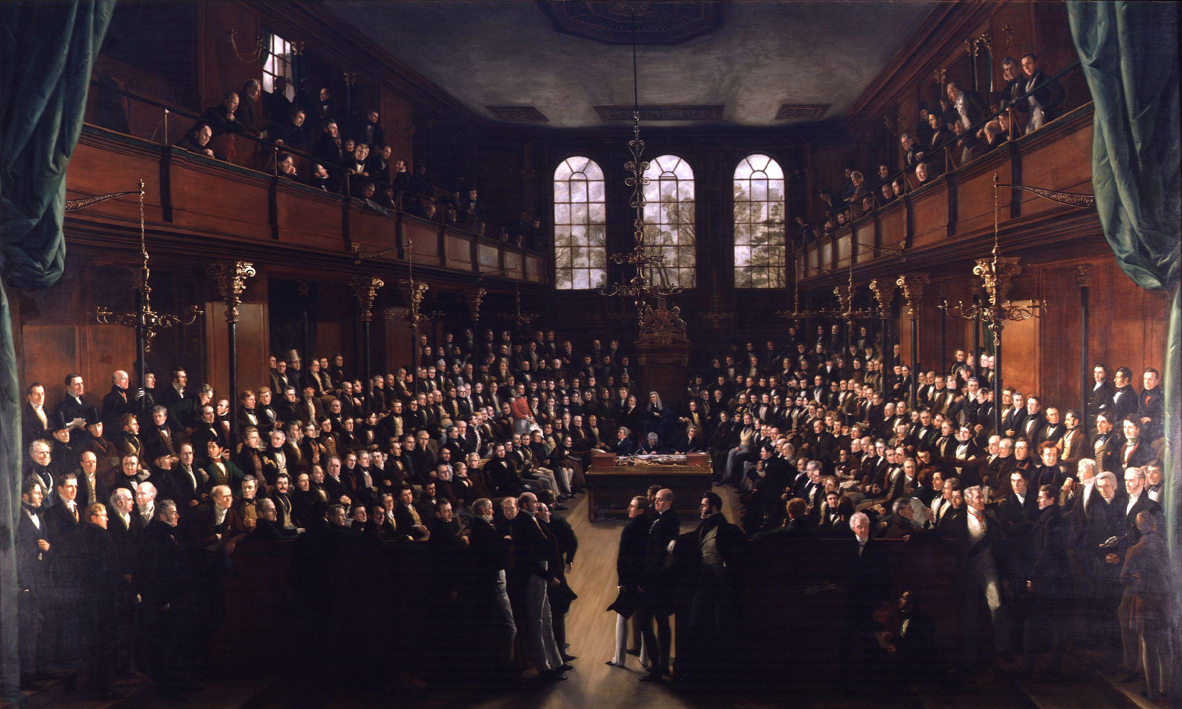 The_House_of_Commons,_1833_by_Sir_George_Hayter inside