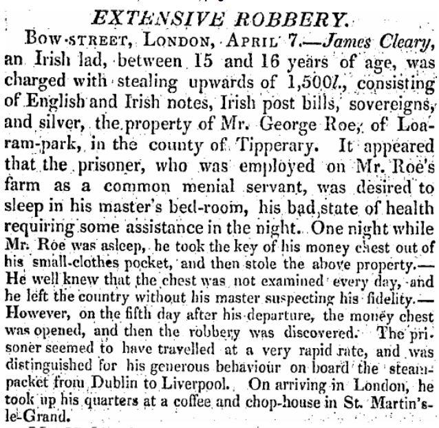 FJ1 11 Apr 1825 Robbery