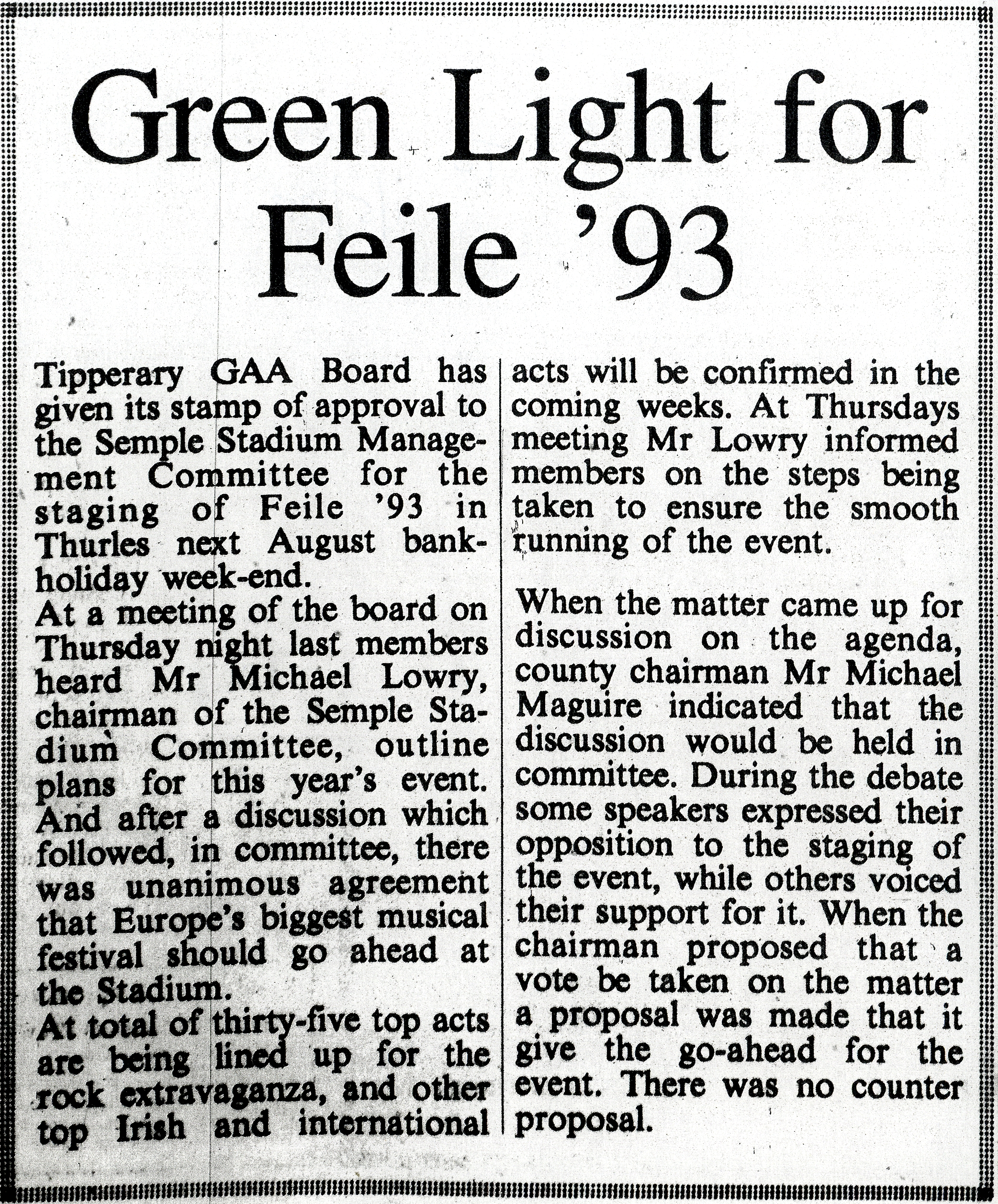 Tipperary Star 1 May 1993a Feile