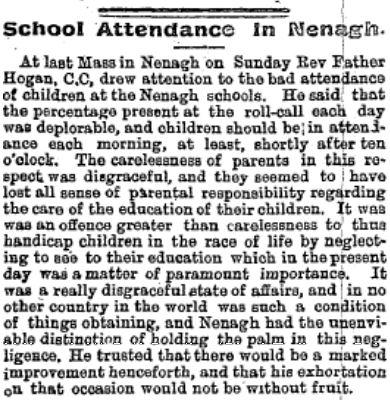 Nenagh Guardian 30 June 1909 Truant