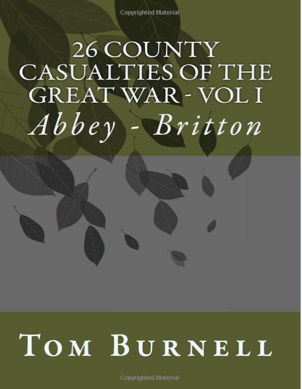 Tom Burnell's '26 County Casualties Of The Great War' On Amazon Now