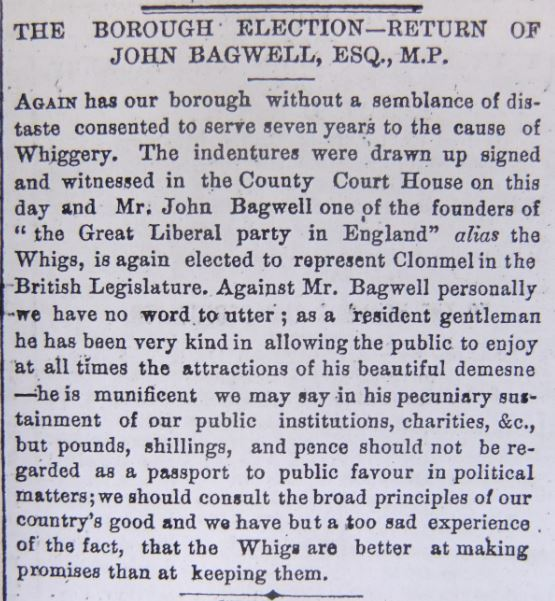 TFP 14 July 1865 Bagwell