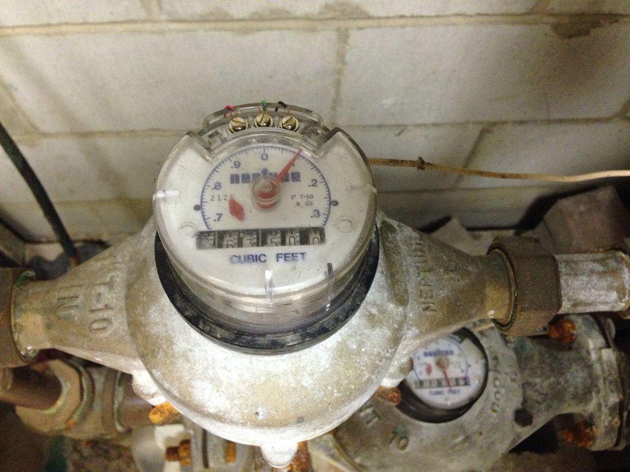 water meter inside