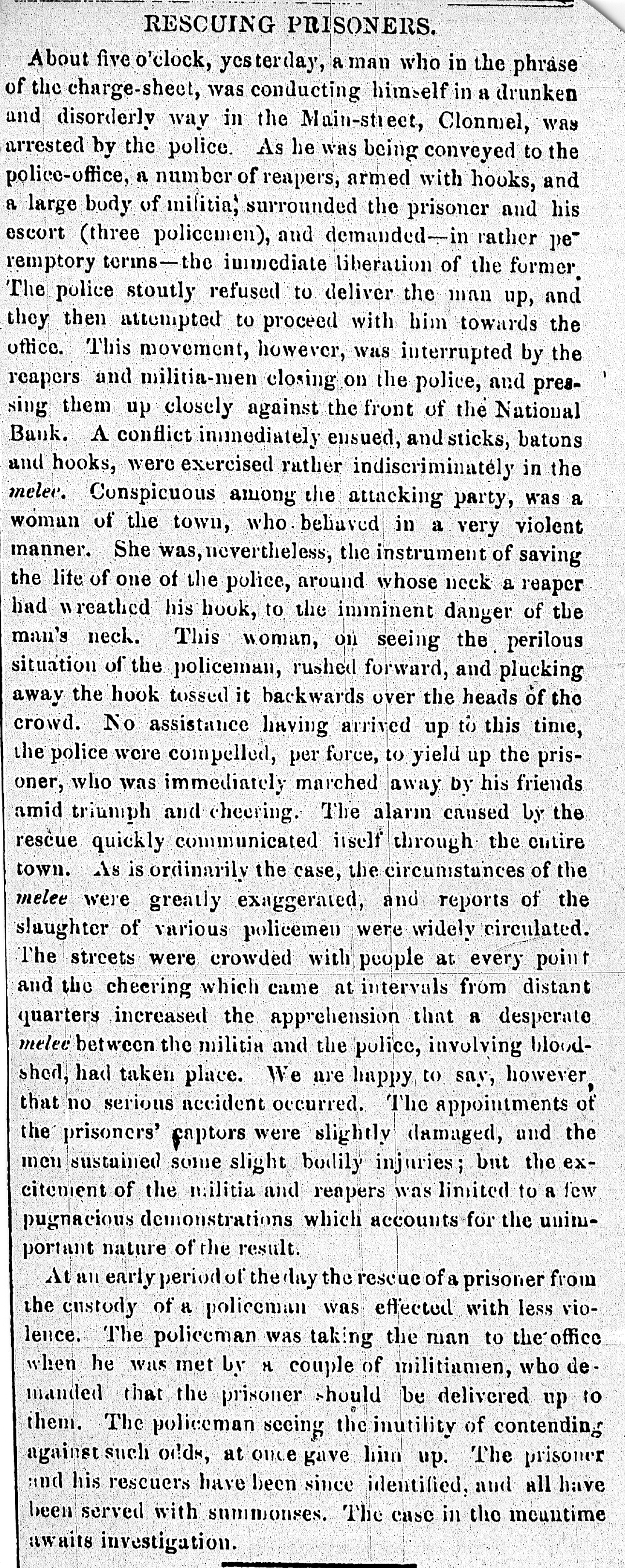 The Limerick, Tipperary & waterford Examiner, 17 Aug 1859