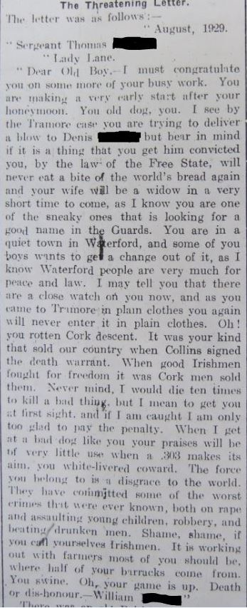 Clonmel Chronicle, 21 September 1929
