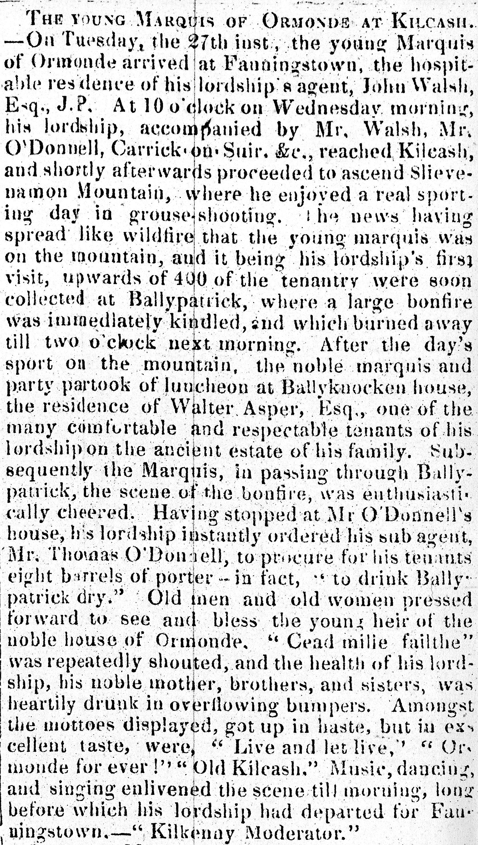 Nenagh Guardian 4 sept 1861