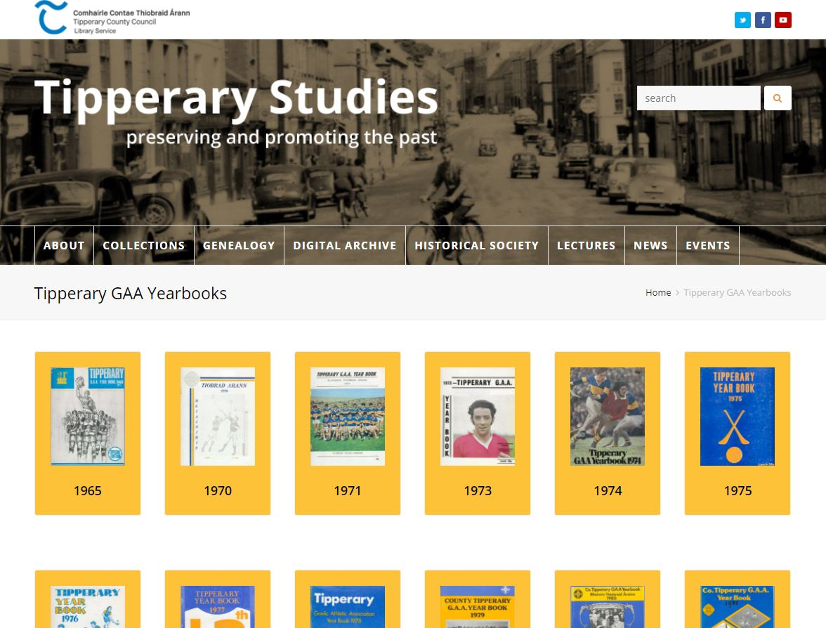 Tipperary Studies Publishes Tipperary GAA Yearbooks Online