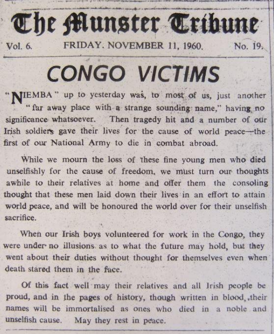 Munster Tribune, 11 November 1960