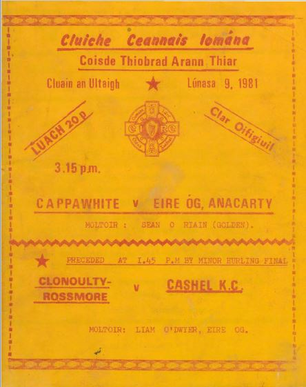 1981 West Tipperary Senior Hurling Final