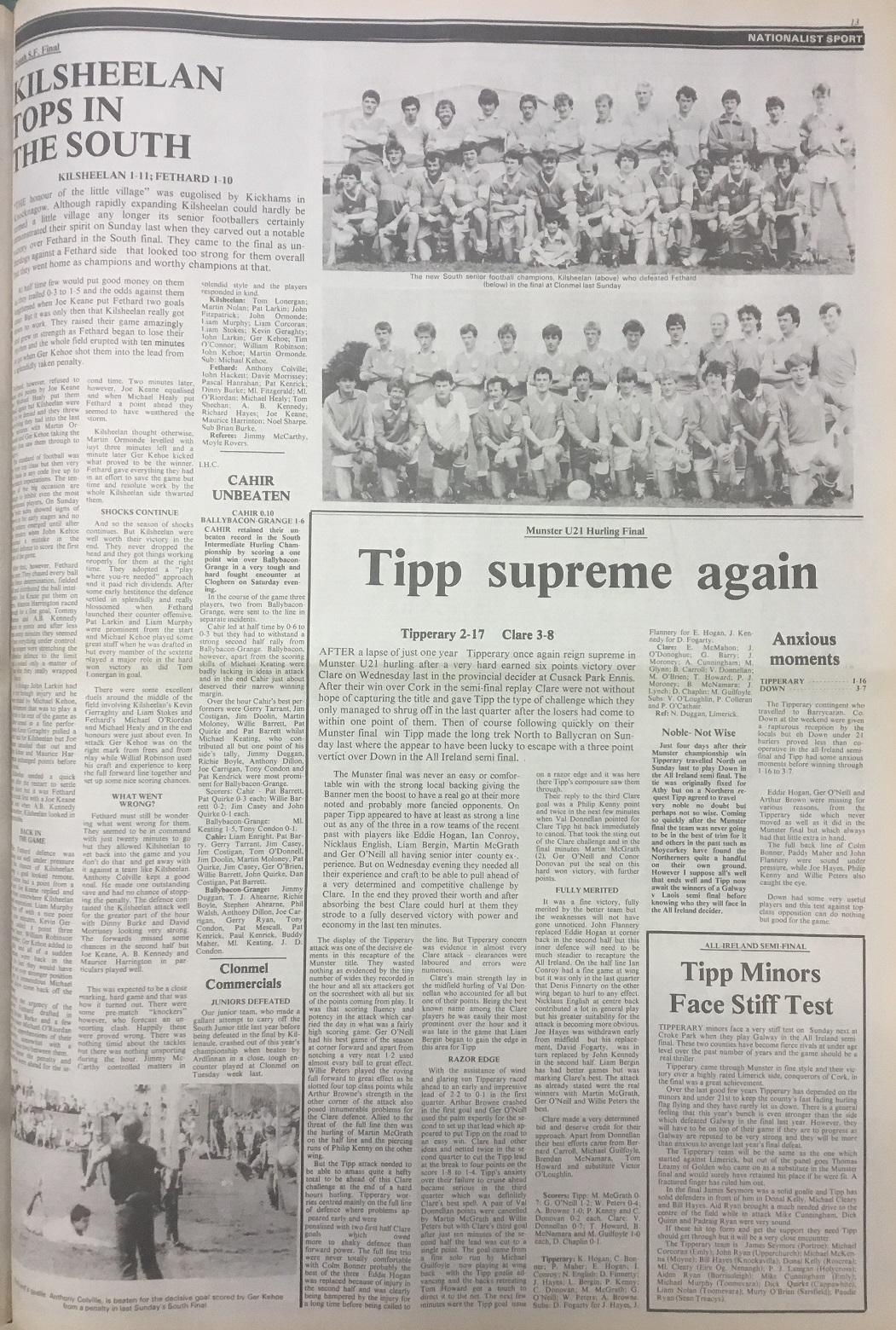 1983 South football final