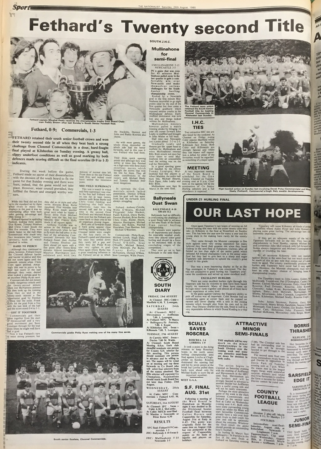 1985 South football final (2)