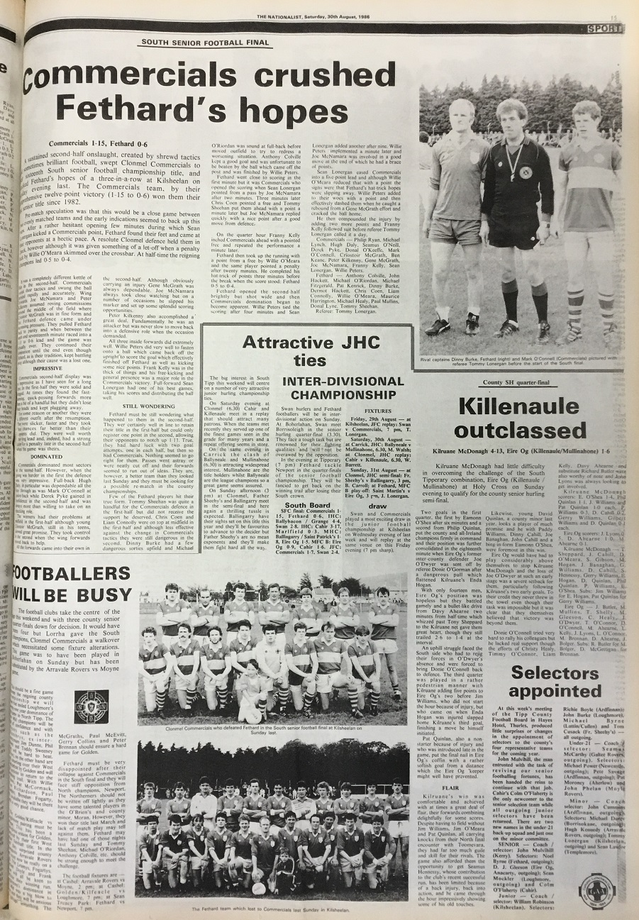 1986 South football final