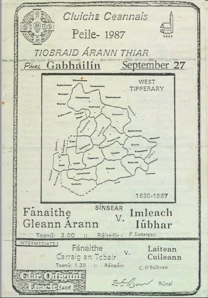1987 West Tipperary Senior Football Final