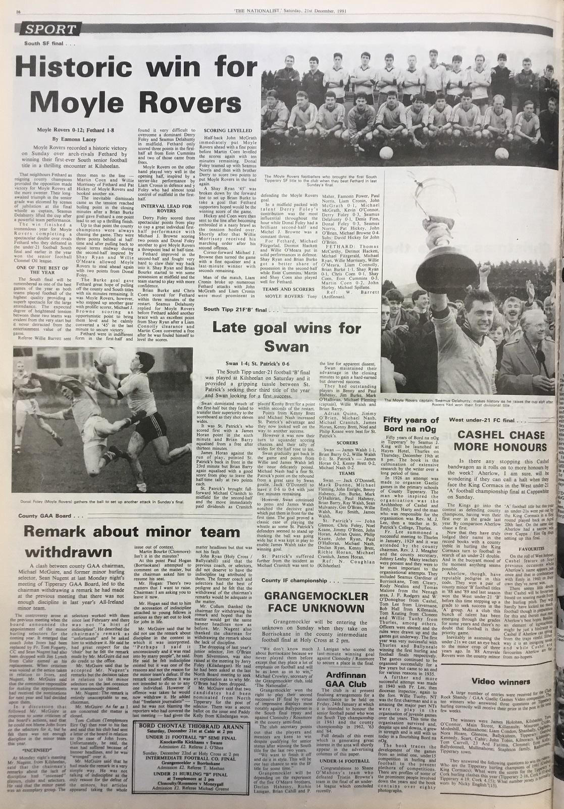 1991 South football final