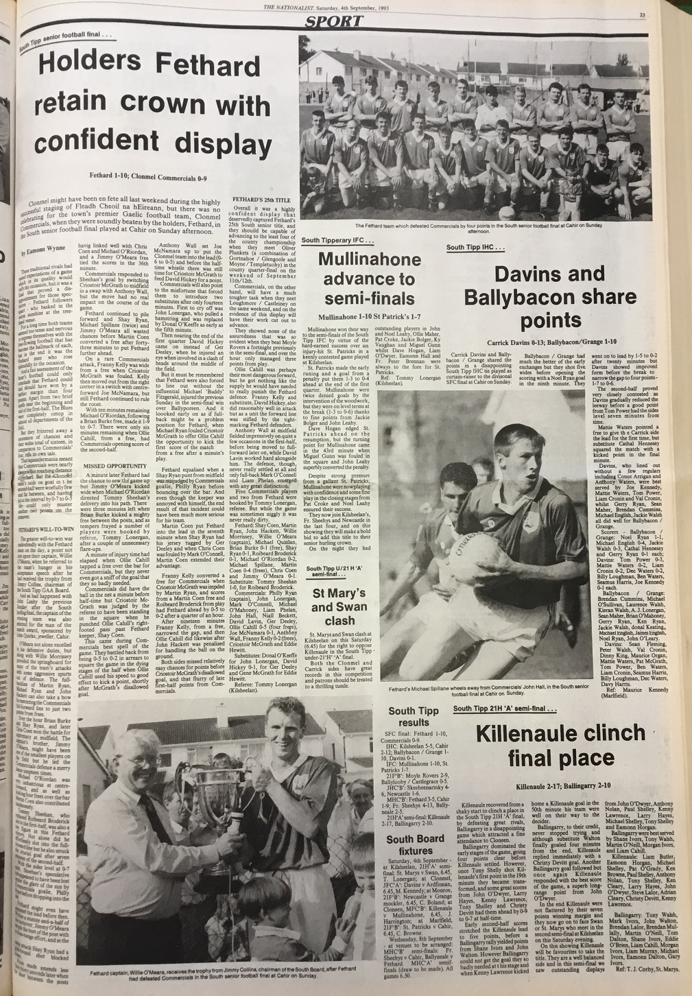1993 South football final