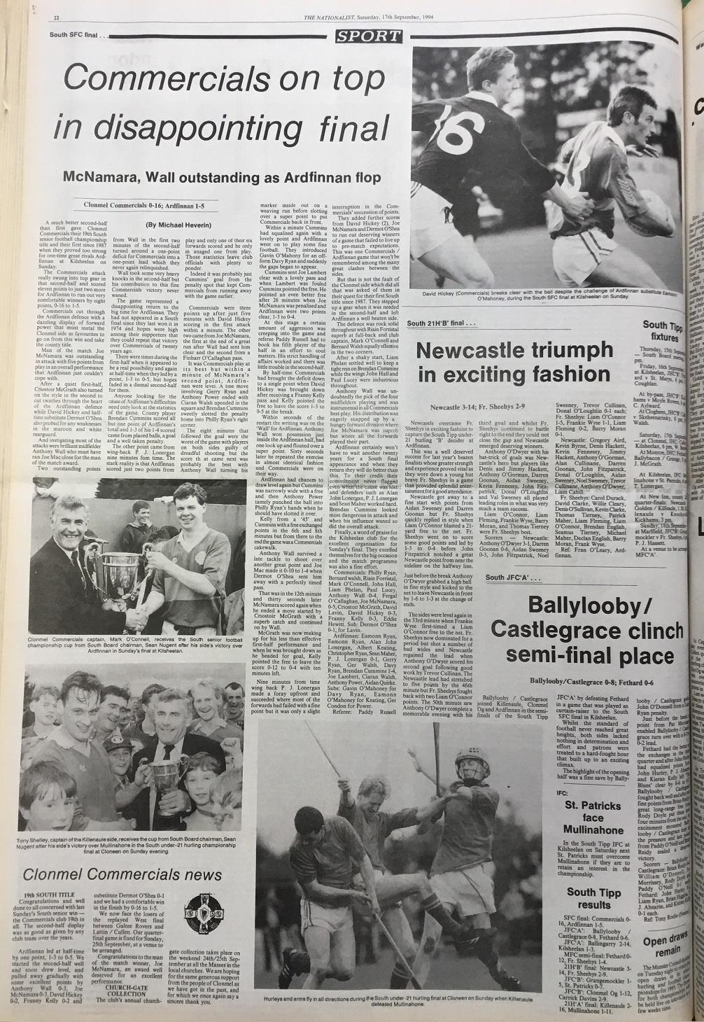 1994 South football final