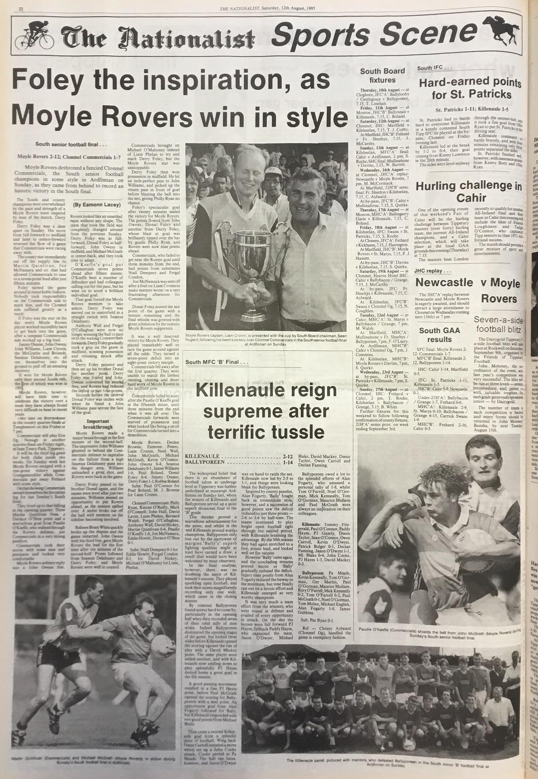 1995 South football final