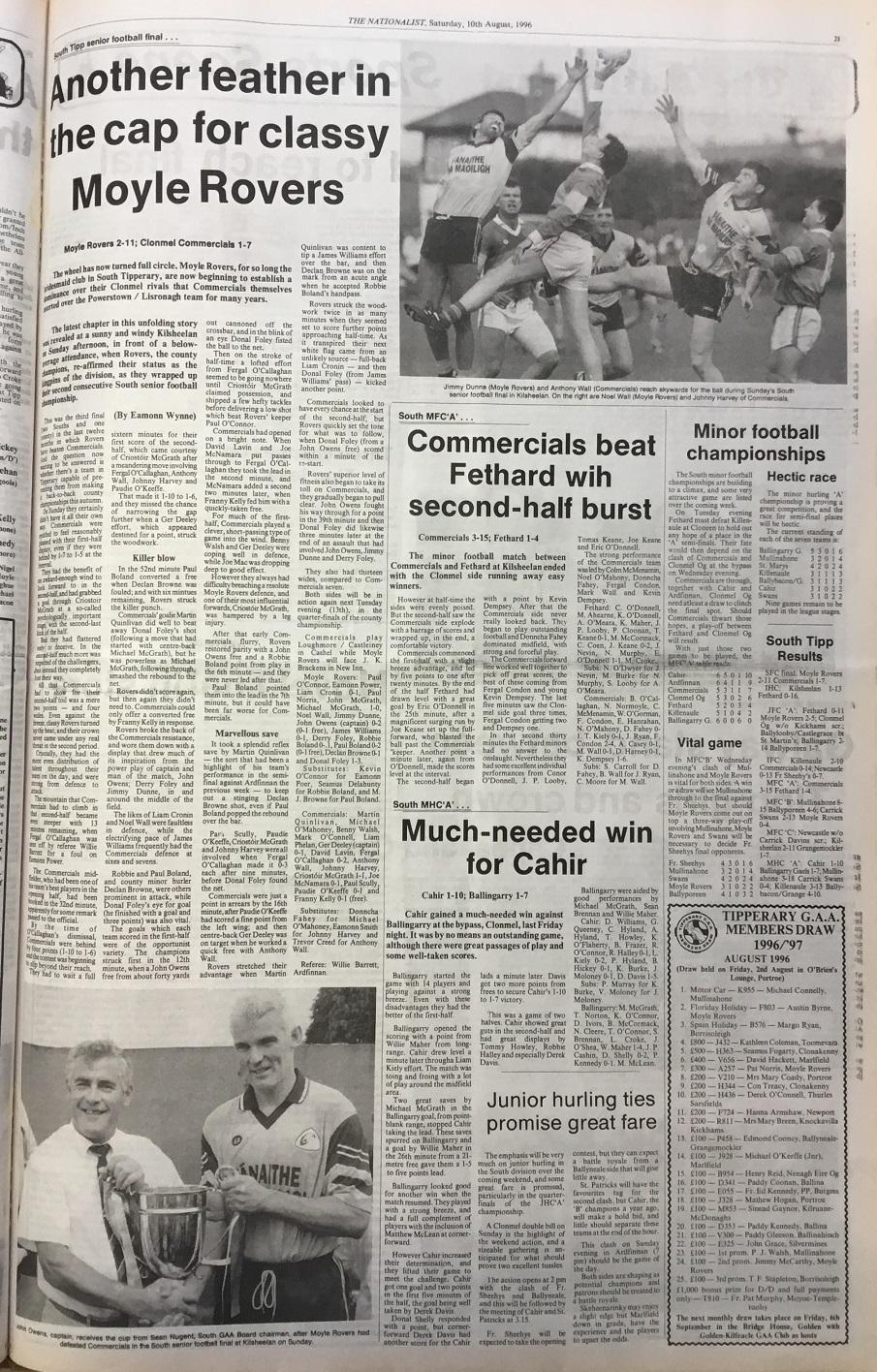 1996 South football final