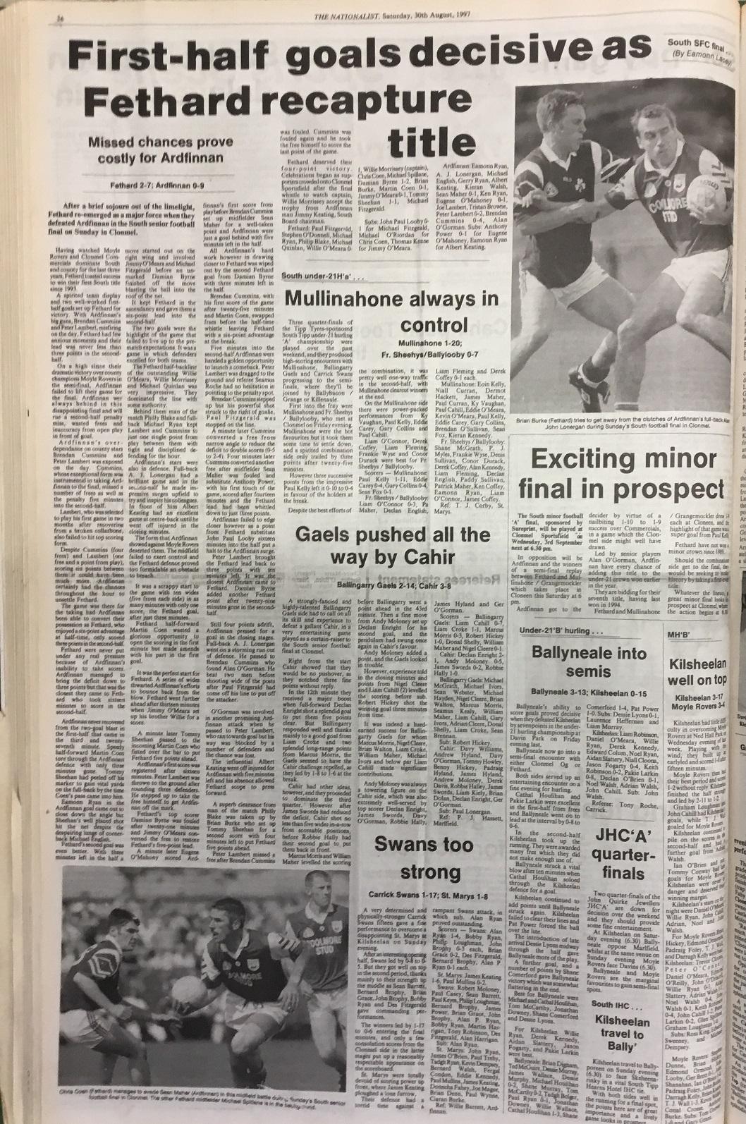 1997 South football final