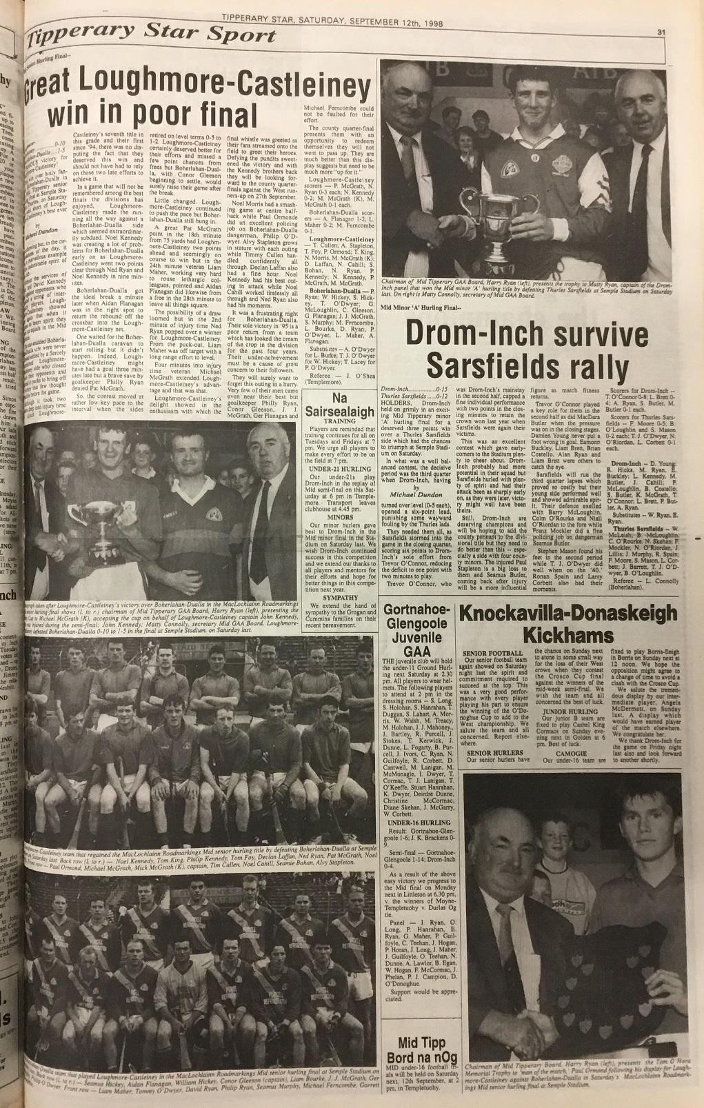 1998 Mid hurling final
