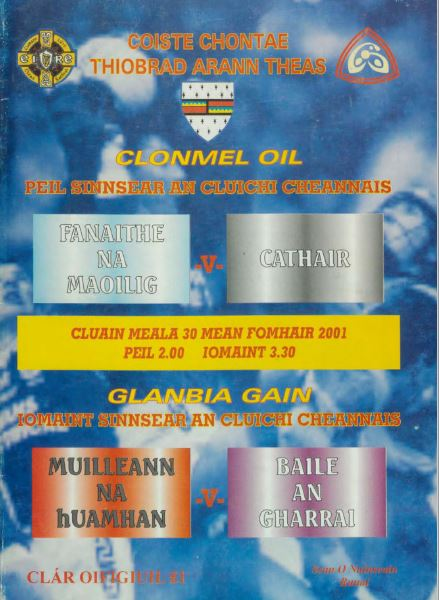 2001 South Tipperary Senior Football Final