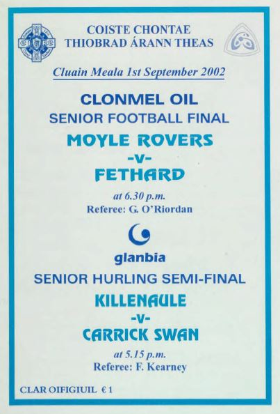 2002 South Tipperary Senior Football Final