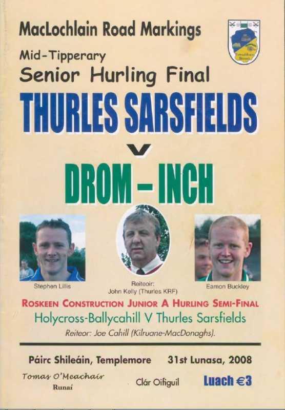 2008 Mid Tipperary Senior Hurling Final