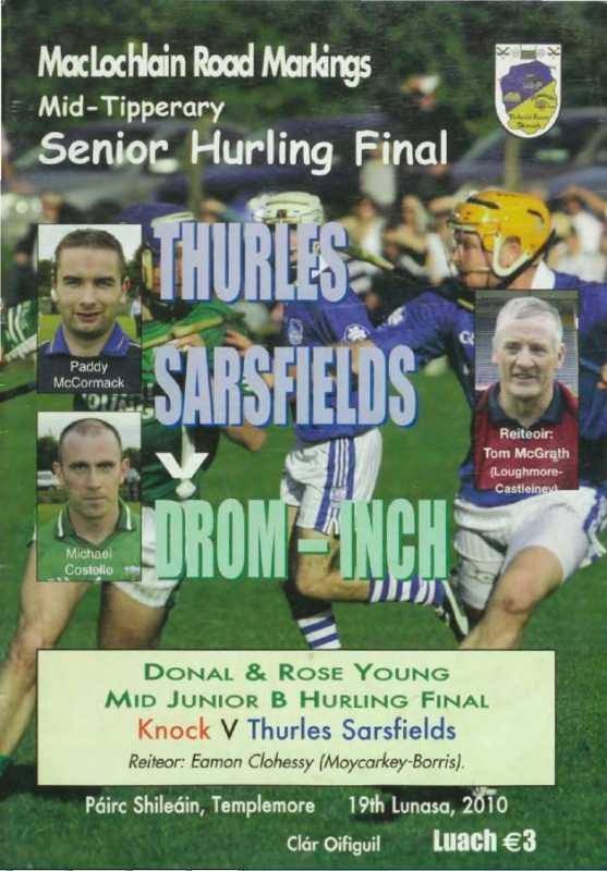2010 Mid Tipperary Senior Hurling Final