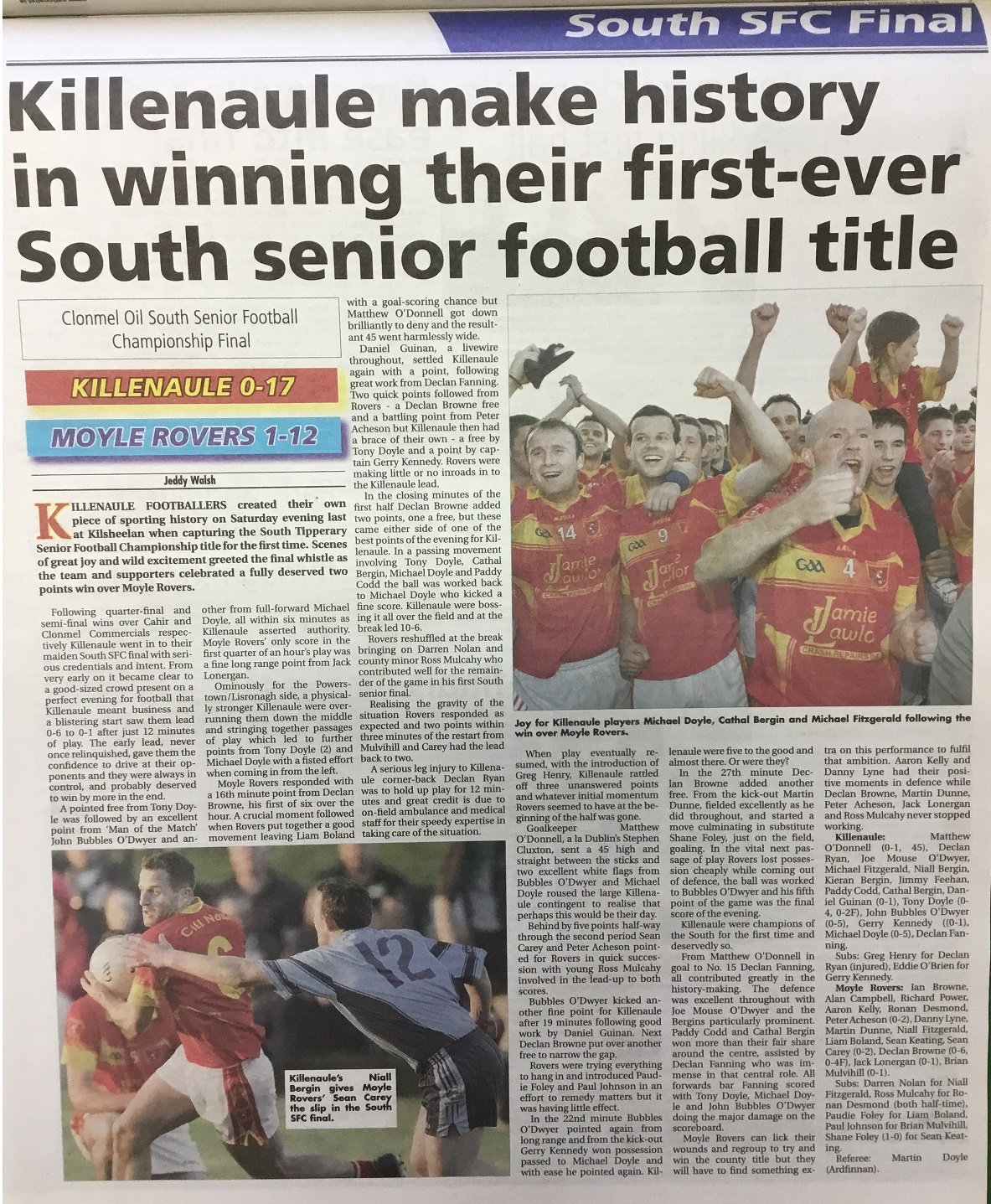 2012 South football final a