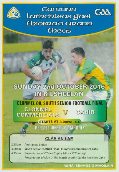 2016 South Tipperary Senior Football Final