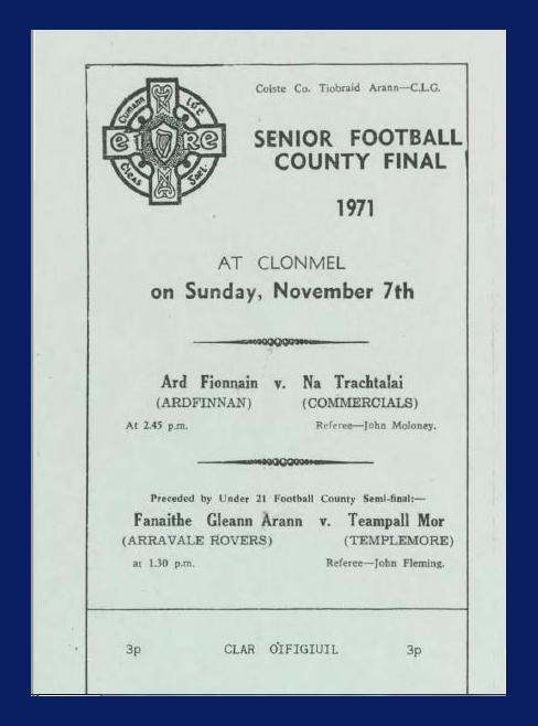 1971 Co. Tipperary Senior Football Final.
