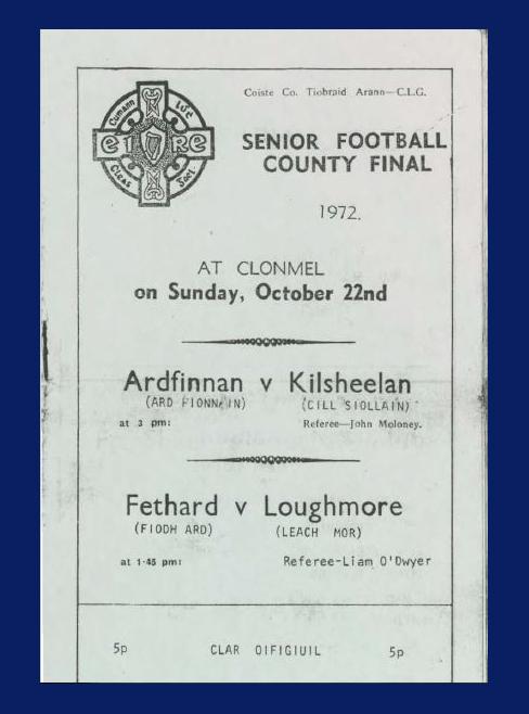 1972 Co. Tipperary Senior Football Final.