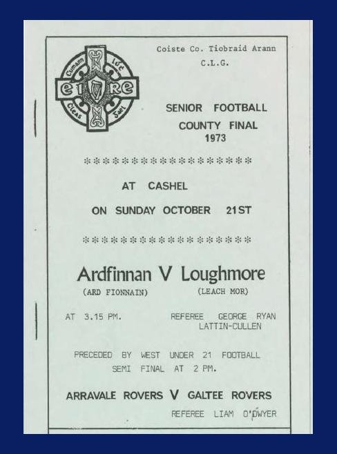 1973 Co. Tipperary Senior Football Final.