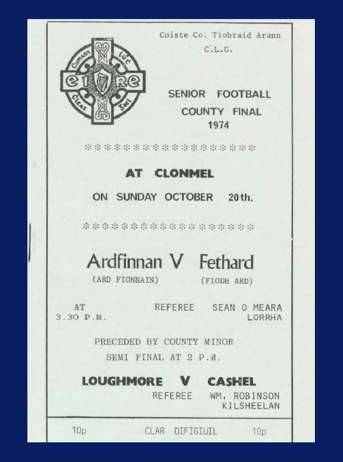 1974 Co. Tipperary Senior Football Final.