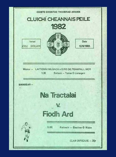 1982 Co. Tipperary Senior Football Final.