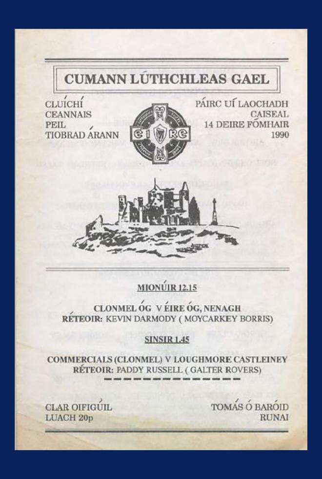 1990 Co Football Final