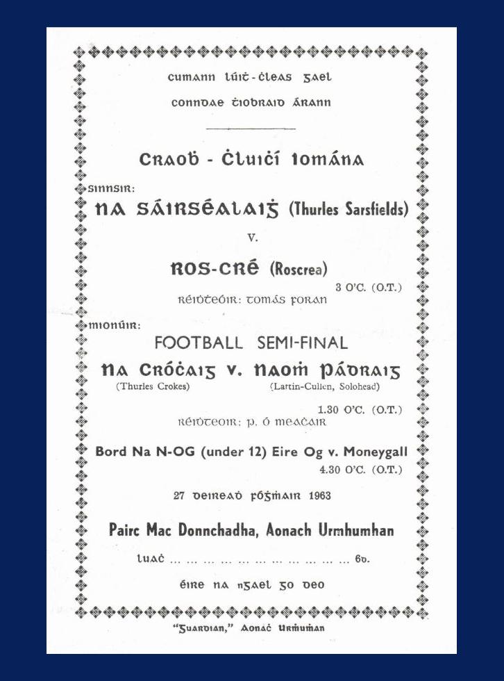 1963County Hurling Final