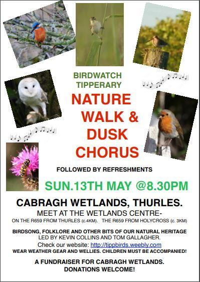 Nature Walk And Dusk Chorus, May 13th @ 8.30pm